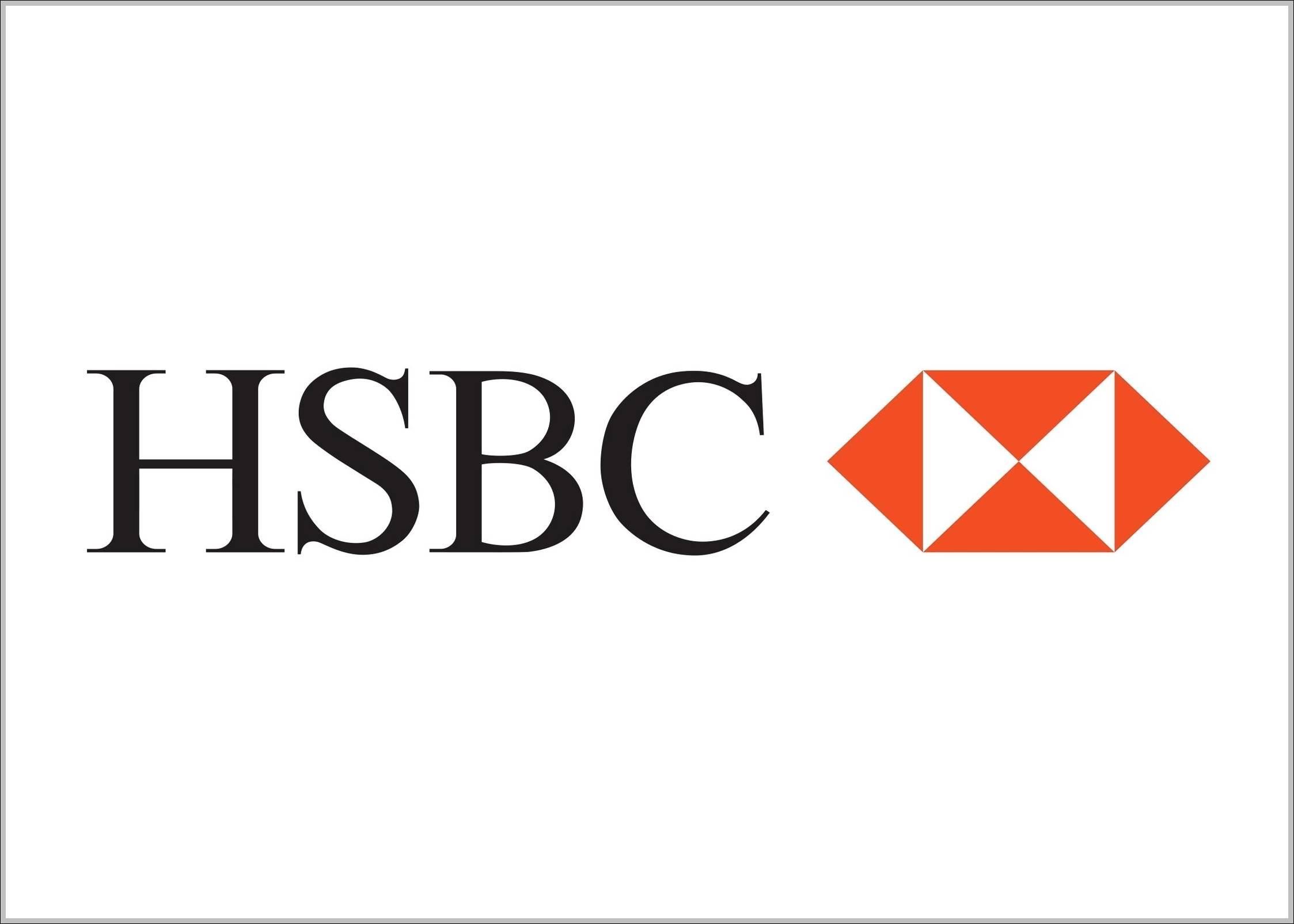 Hsbc Logo on white mercedes benz symbol