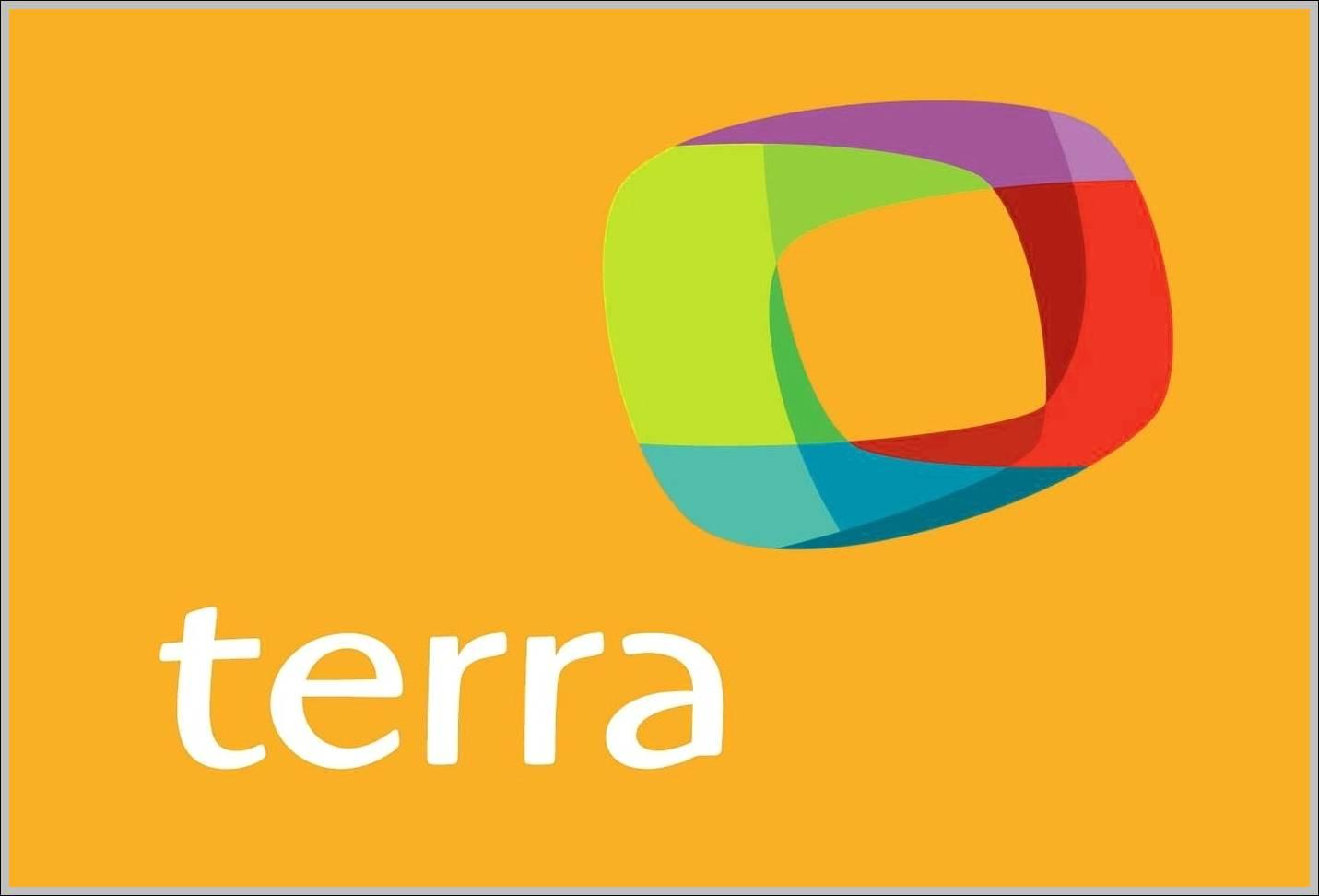 Terra logo orange bg