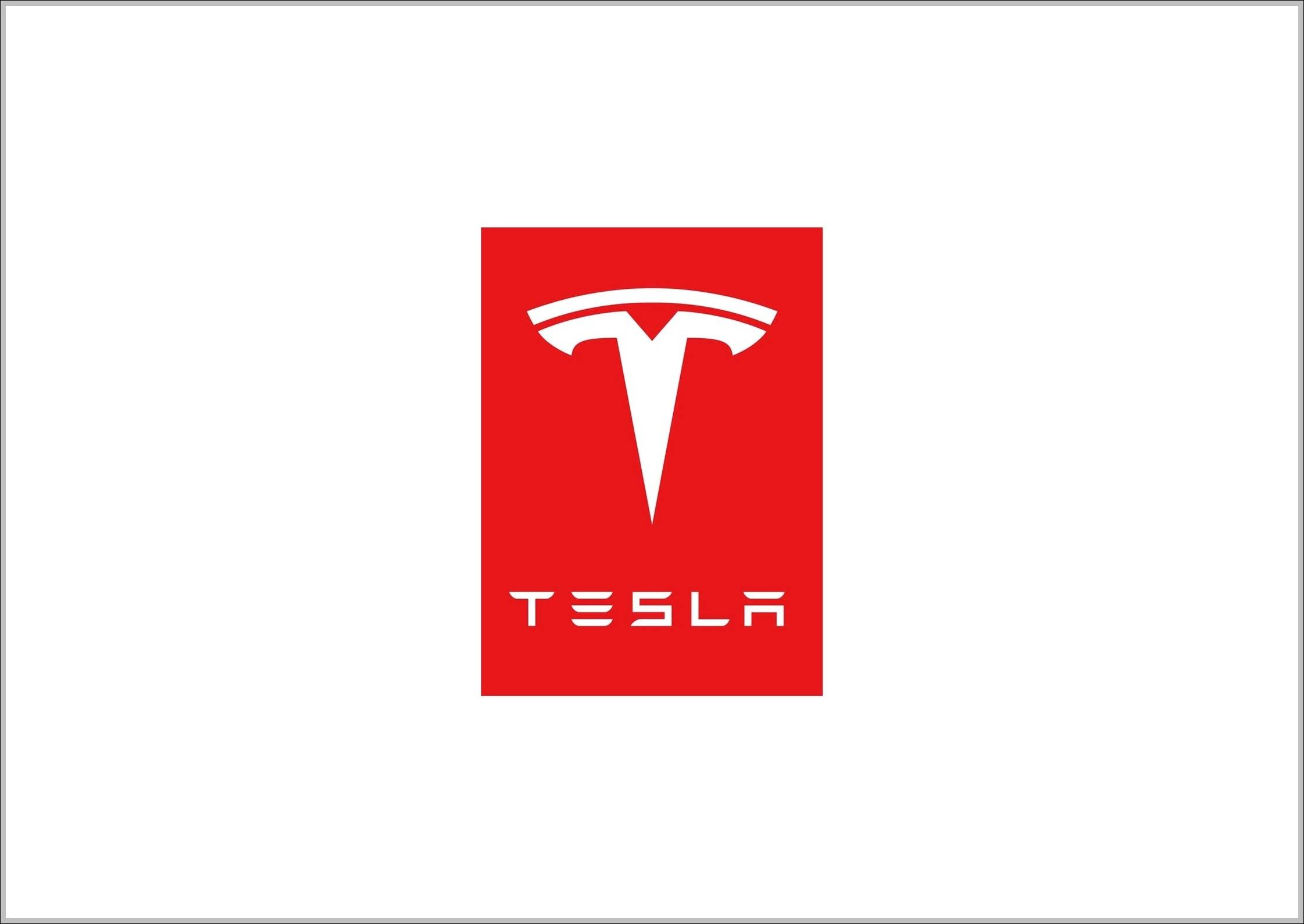 Tesla logo red