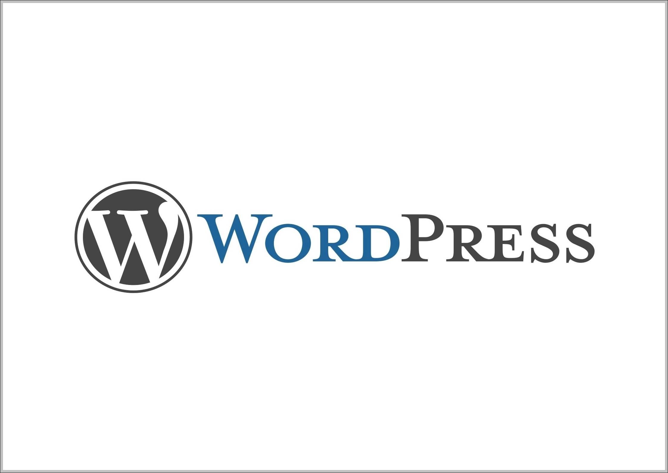 WordPress sign