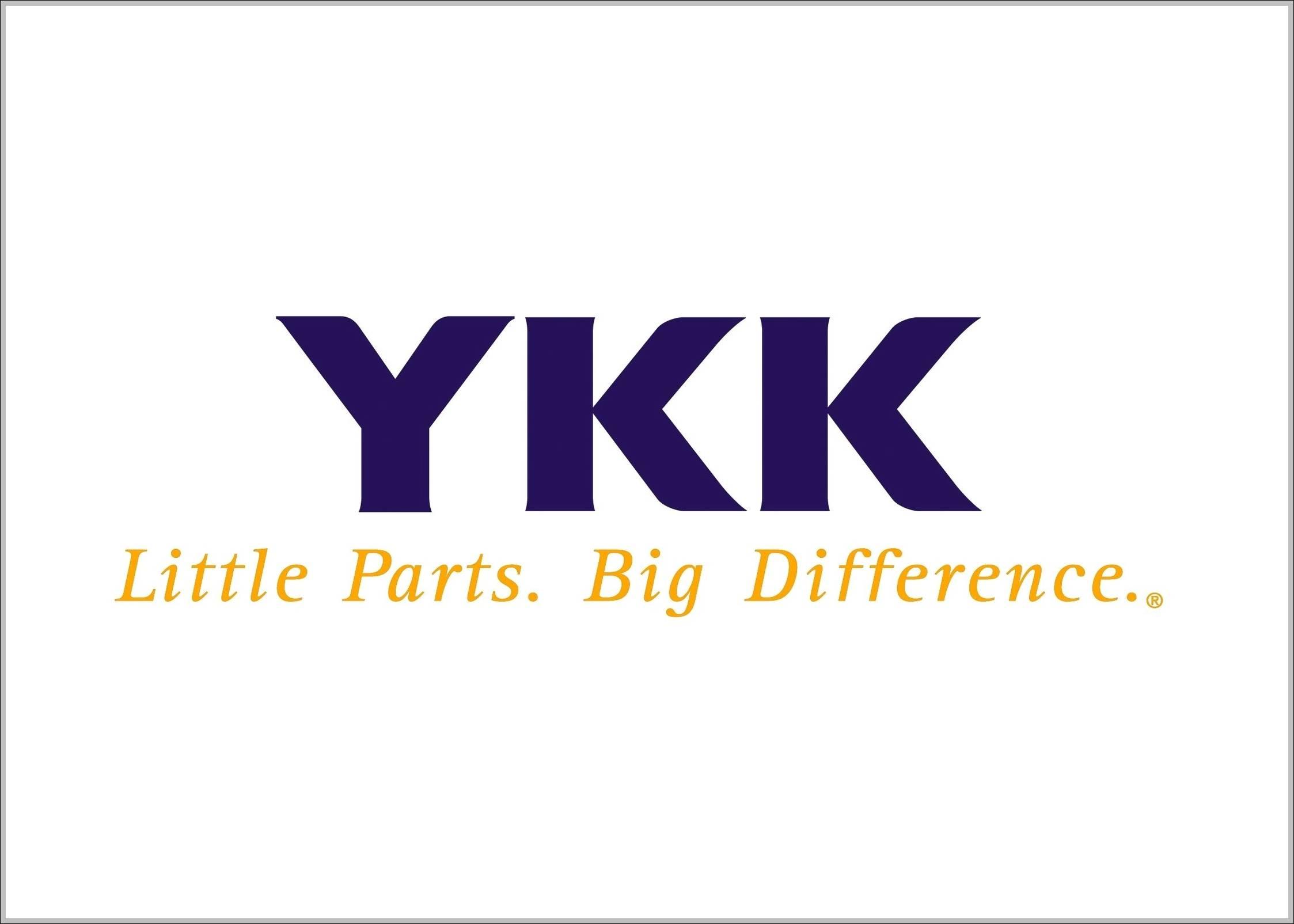 YKK logo slogan